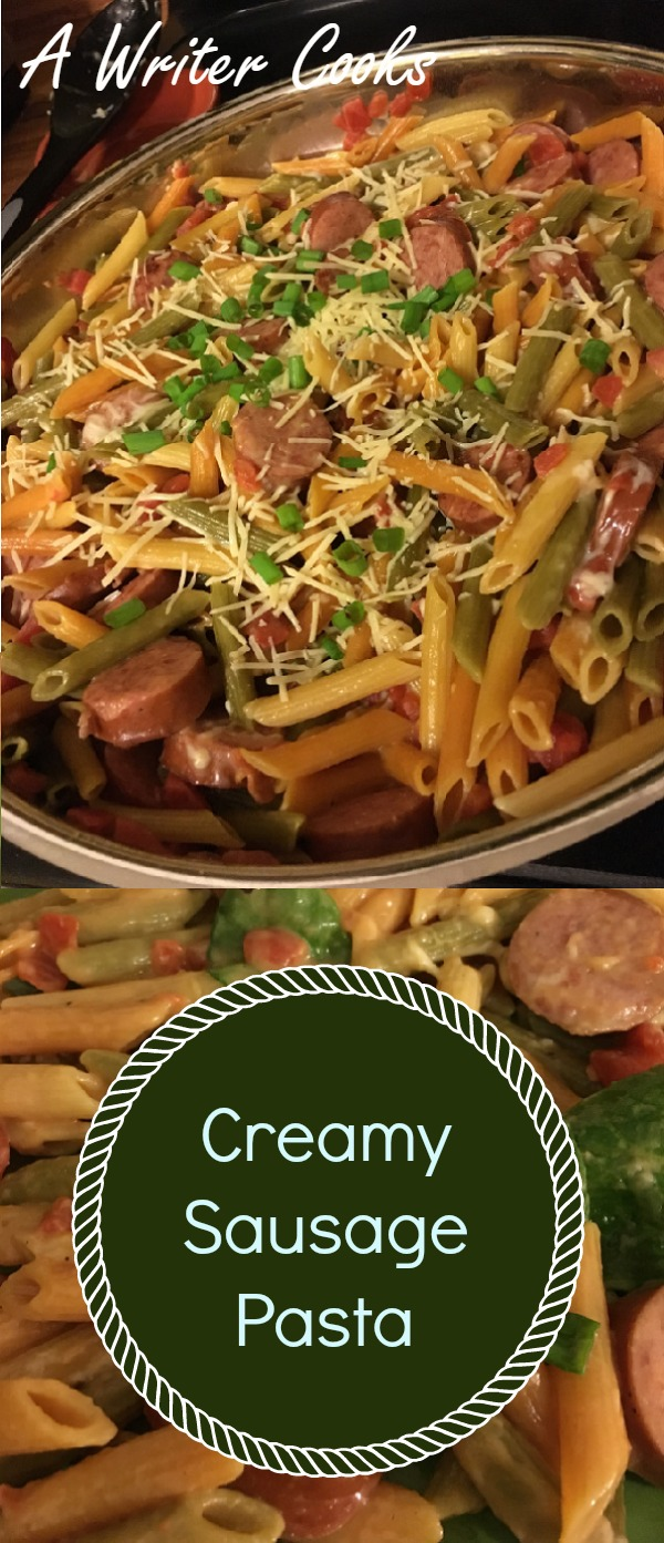 One Pot Creamy Sausage Pasta - easy weeknight dinner that's absolutely delicious